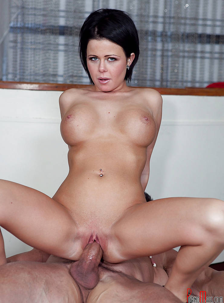 Lady with big boobs riding a big dick.